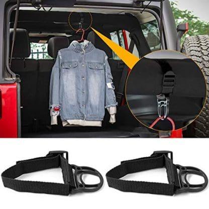 Roll Bar Coat Hanger Hooks for Jeep Wrangler