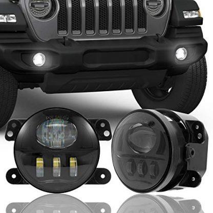4 Inch LED Fog Lights for Jeep Gladiator