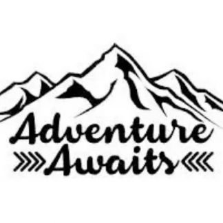 Adventure Awaits Outdoors Vinyl Decal Sticker