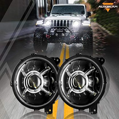 Auxbeam 9 inch Round LED Headlights for Jeep Wrangler JL