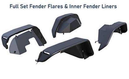 Black Horse Off Road Matte Black Steel Fender Flares