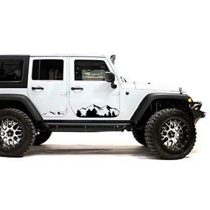 Bubbles Designs Jeep Wrangler Black Mountains Decal Sticker