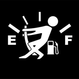 Gas Gauge Empty Decal Sticker