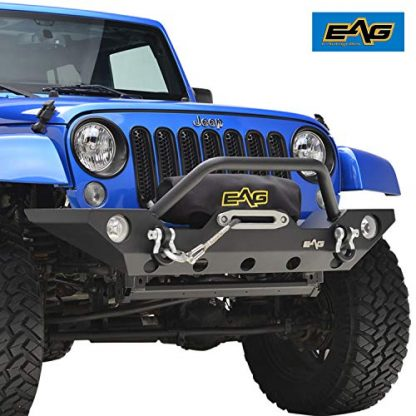 EAG Front Bumper with Winch Plate and Fog Light Housing