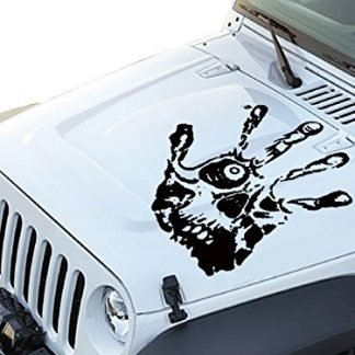 Hand Print Skull Face Jeep Hood Decal Graphic