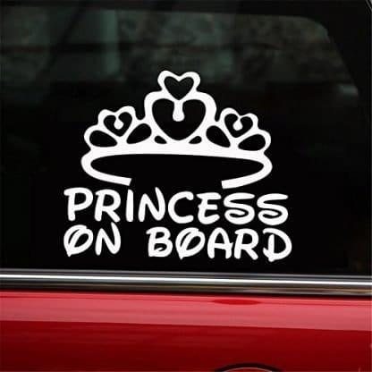 Princess on Board Decal for Jeep Window