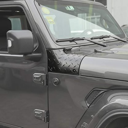 Jeep Black Cowl Body Armor Outer Corner Guards