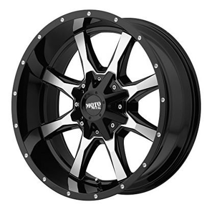 Moto Metal Gloss Black Wheel Machined With Milled Accents