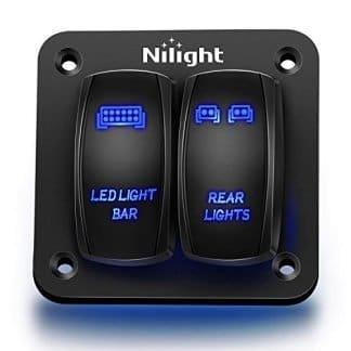 Nilight Aluminum Jeep LED Light Bar Rocker Switches