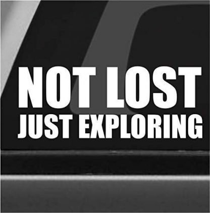 Not Lost Just Exploring Jeep Decal