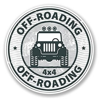 Jeep Off-Roading 4x4 Vinyl Decal Sticker