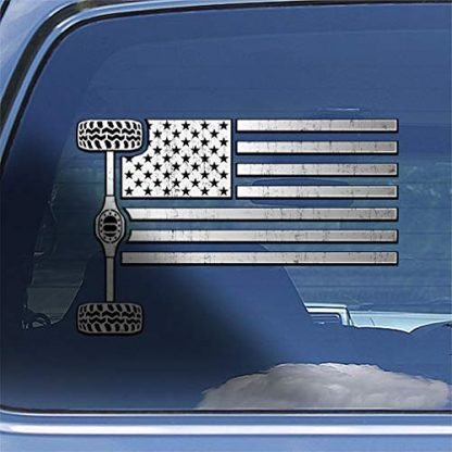 Off-roading American Flag Axle Decal Sticker