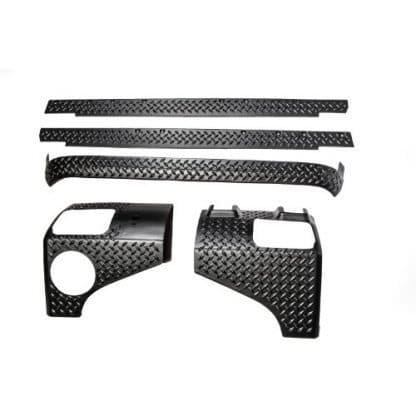 5 Piece Rugged Ridge Black Diamond Body Armor Kit