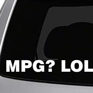 MPG LOL Jeep Decal