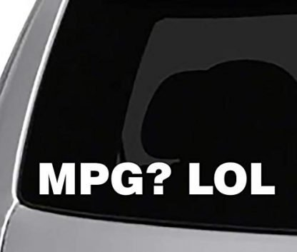 MPG LOL Jeep Decal