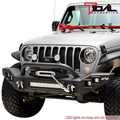 Tidal Jeep JL Heavy Duty Front Bumper with LED Light Bar and Winch Plate