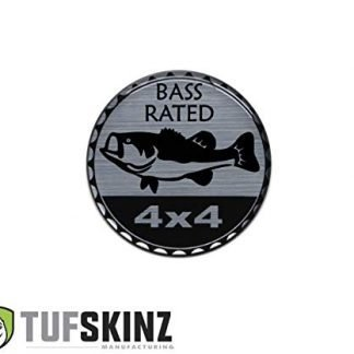 Brushed Silver Bass Rated Jeep Badge