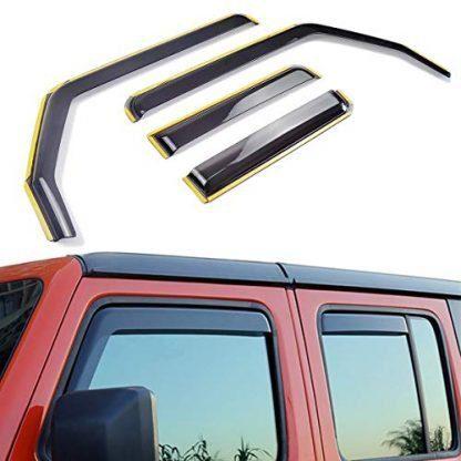 Jeep Wrangler JLU Side Window Deflectors