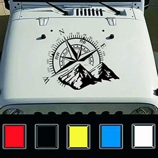 Mountain Compass Jeep Hood Decal