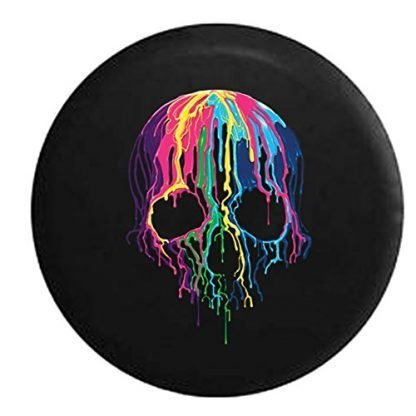 American Unlimited Melting Skull Neon Spare Tire Cover