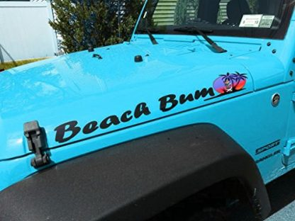 Jeep Beach Bum Decals with Palm Tree