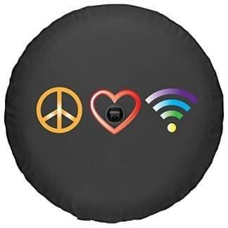 Boomerang Peace Love WiFi Soft JL Tire Cover