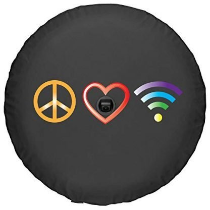 Boomerang Peace Love WiFi Soft JL Tire Cover