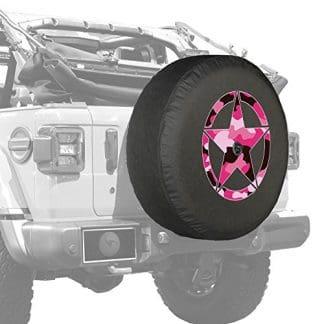 Boomerang Wrangler Pink Camo Star Tire Cover