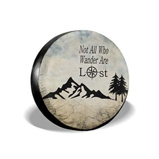 Not All Who Wander are Lost Compass Spare Tire Covers