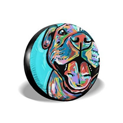 Cute Pit Bull Painting Tire Cover