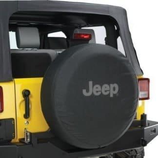 Mopar OEM Black Denim Jeep Logo Spare Tire Cover