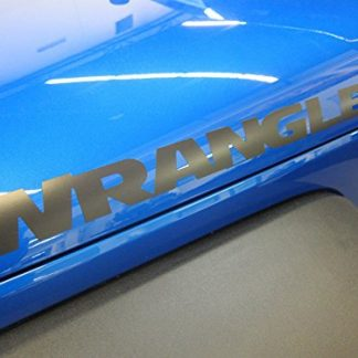 Low Gloss Mopar Black Wrangler Side Hood Decal