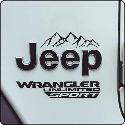 Black Jeep Mountain Decal Set