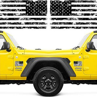 Narrow Minded Jeep Tattered American Flag Stickers