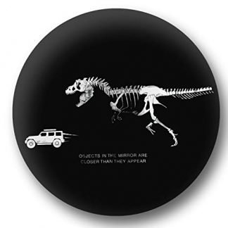 Jurassic Park Dinosaur Chasing Jeep Spare Tire Cover