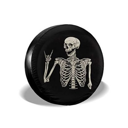Rock and Roll Skeleton Wheel Cover