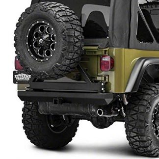 Red Rock 4x4 Rock Crawler Jeep TJ Rear Bumper with Tire Carrier
