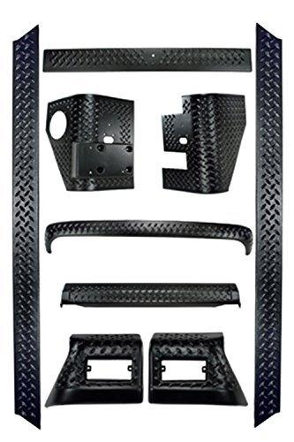 9 Piece Jeep TJ Rugged Ridge Black Diamond Body Armor Kit