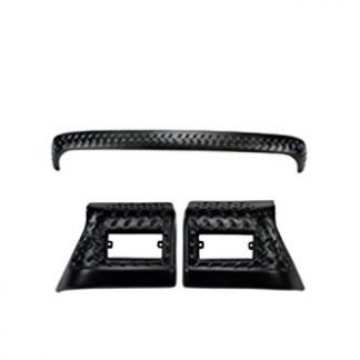 3 Piece Rugged Ridge Jeep TJ Black Diamond Body Armor Kit