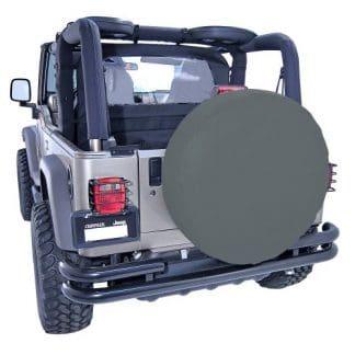 Rugged Ridge Black Jeep Wrangler Spare Tire Cover