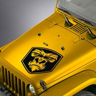 SkunkMonkey Jeep Gorilla Face Hood Decal