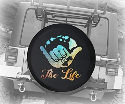 Watercolor Jeep The Life Spare Tire Cover