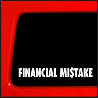 Sticker Connection Jeep Financial Mistake Decal