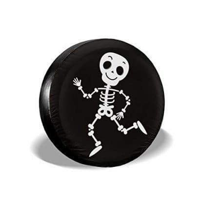 Dancing Bone Skeleton Spare Tire Cover