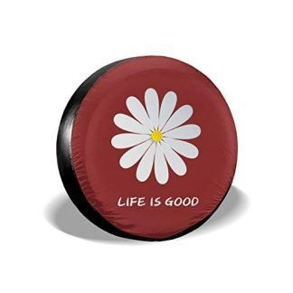 Life is Good Flower Tire Cover