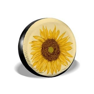 Tan Sunflower Spare Tire Cover
