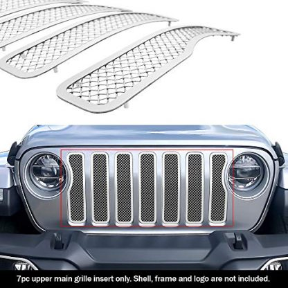 APS Jeep Gladiator Chrome Wire Mesh Grille