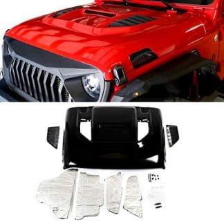 Steel Jeep JL Desert Storm Style Hood